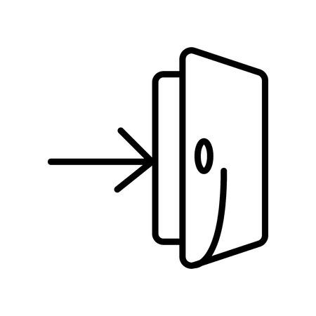 Vecteur d'icône d'entrée isolé sur fond blanc, éléments de signe, de ligne et de contour transparents d'entrée dans un style linéaire