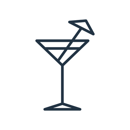Cocktail icon vector isolated on white background, Cocktail transparent sign Illustration