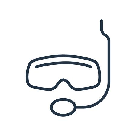 Snorkel wektor ikona na białym tle na białym tle, przezroczysty znak Snorkel