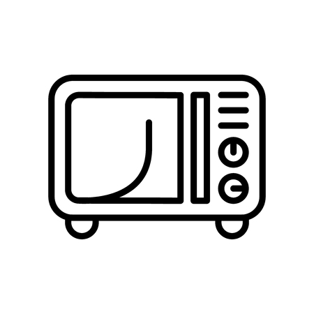 Microwave icon vector isolated on white background, Microwave transparent sign , line and outline elements in linear style