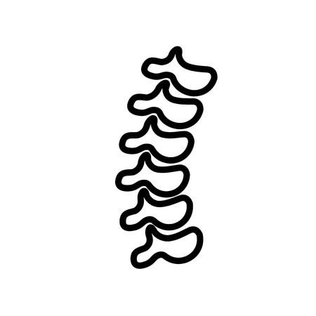 Spinal column icon vector isolated on white background, Spinal column transparent sign , line and outline elements in linear style  イラスト・ベクター素材