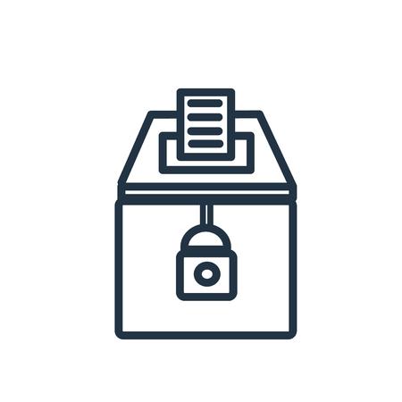 Vecteur d'icône d'élections isolé sur fond blanc, signe transparent d'élections