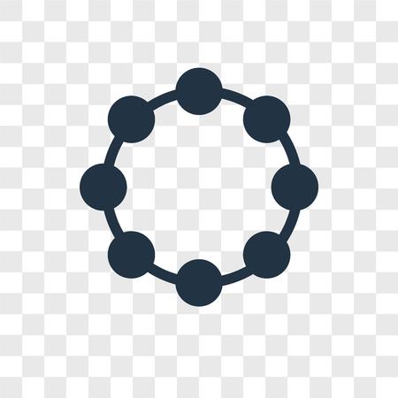 Bracelet vector icon isolated on transparent background, Bracelet logo concept Standard-Bild - 107679055