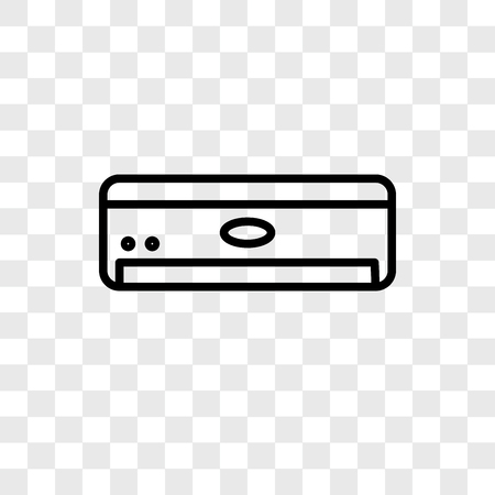 Air conditioner vector icon isolated on transparent background, Air conditioner logo concept