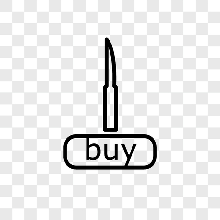 Buy vector icon isolated on transparent background, Buy logo concept