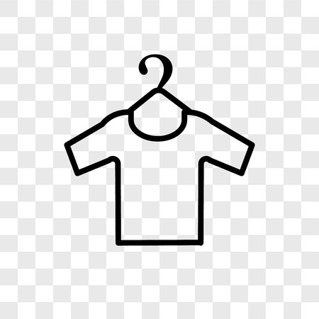 Clothes vector icon isolated on transparent background, Clothes logo concept Banque d'images - 107679668