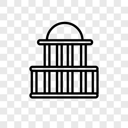 Government buildings vector icon isolated on transparent background, Government buildings logo concept