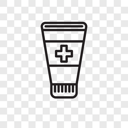 Ointment vector icon isolated on transparent background, Ointment logo concept Banque d'images - 107692428