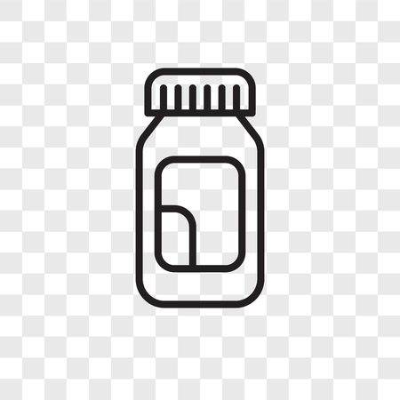 Drugs vector icon isolated on transparent background, Drugs logo concept Banco de Imagens - 107692431