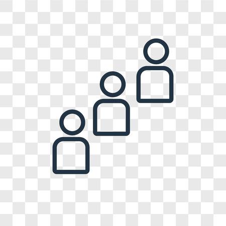 Icône de vecteur de groupe isolé sur fond transparent, concept logo groupe