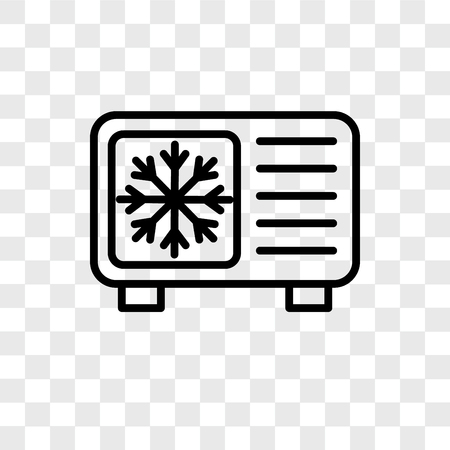 Icona di vettore di raffreddamento isolato su sfondo trasparente, concetto di marchio di raffreddamento Vettoriali