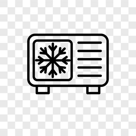 Icono de vector de enfriamiento aislado sobre fondo transparente, concepto de logo de enfriamiento Logos