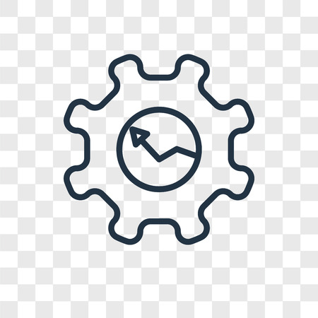 Gear vector icon isolated on transparent background, Gear logo concept Stok Fotoğraf - 107778117