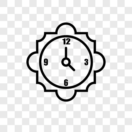 4 oclock vector icon isolated on transparent background, 15 minutes logo concept