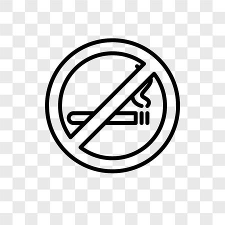 Nicht rauchende Vektorikone lokalisiert auf transparentem Hintergrund, Nichtraucherlogokonzept Logo