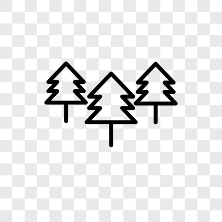 Trees vector icon isolated on transparent background, Trees logo concept