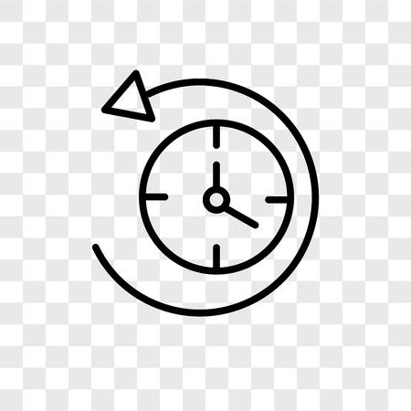 Icono de vector antihorario aislado sobre fondo transparente, concepto de logo antihorario Logos