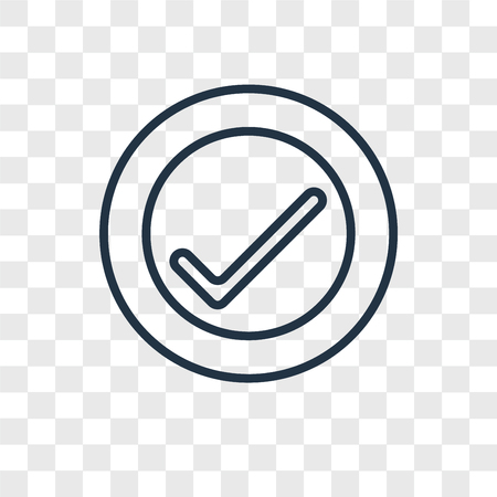 Verification vector icon isolated on transparent background, Verification logo concept Illustration