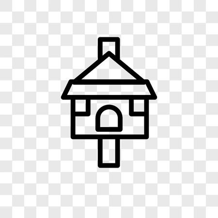 Tree House vector icon isolated on transparent background, Tree House logo concept