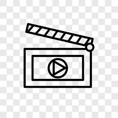 Clapboard vector icon isolated on transparent background, Clapboard logo concept