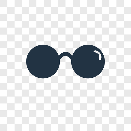 Sunglasses vector icon isolated on transparent background, Sunglasses logo concept Stock Vector - 108318343