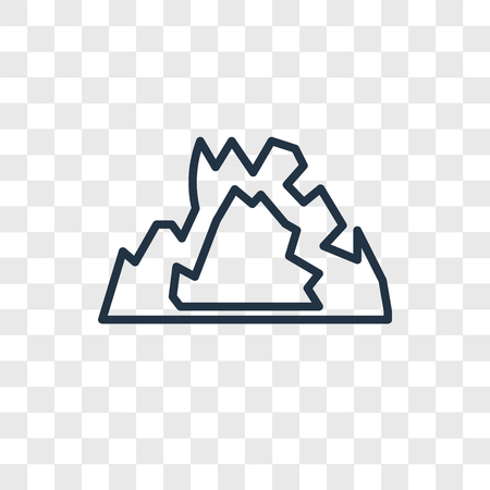 Cave vector icon isolated on transparent background, Cave logo concept Иллюстрация