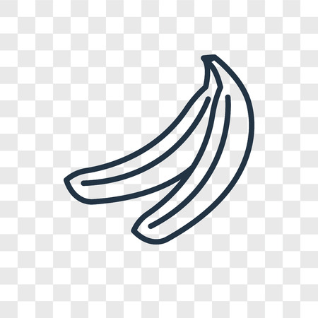Banana vector icon isolated on transparent background, Banana logo concept