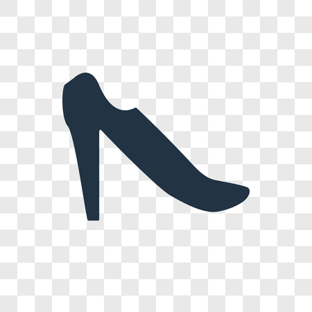 High heel vector icon isolated on transparent background, High heel logo concept