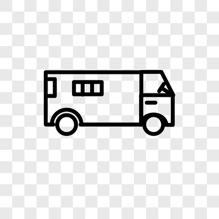 Ambulance vector icon isolated on transparent background, Ambulance logo concept