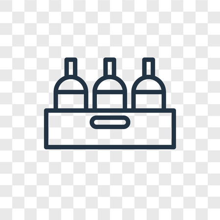 Bottle vector icon isolated on transparent background, Bottle logo concept Illusztráció