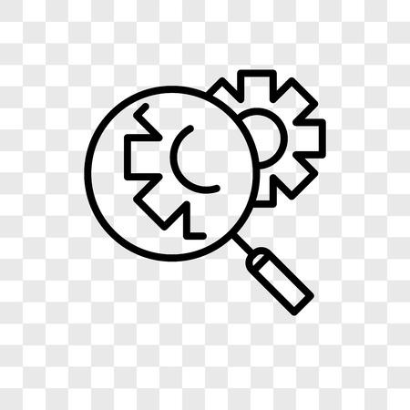 Investigate vector icon isolated on transparent background, Investigate logo concept Illustration