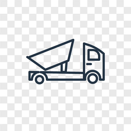 dump truck vector icon isolated on transparent background, Tablet logo concept