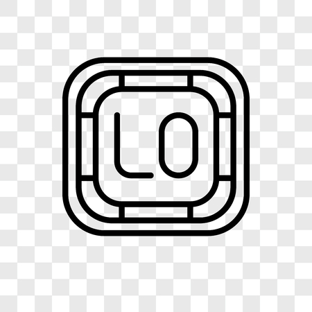 Low vector icon isolated on transparent background, Low logo concept Illustration