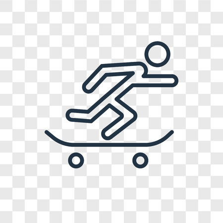 Skateboarding vector icon isolated on transparent background, Skateboarding logo concept Illusztráció