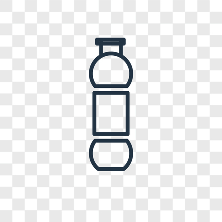 Water vector icon isolated on transparent background, Water logo concept