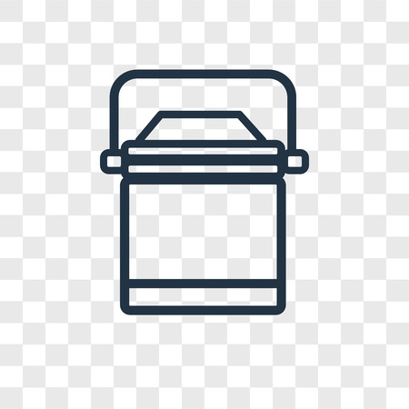 Lunchbox vector icon isolated on transparent background, Lunchbox logo concept