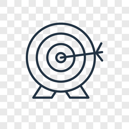 Archery vector icon isolated on transparent background, Archery logo concept Illustration