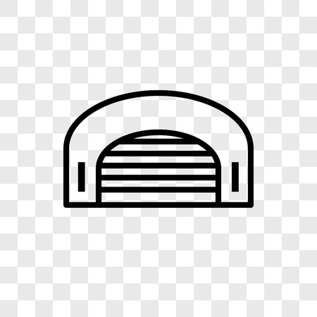 Hangar vector icon isolated on transparent background, Hangar logo concept