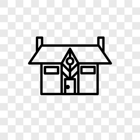 Mansion vector icon isolated on transparent background, Mansion logo concept