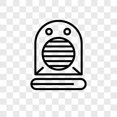Heater vector icon isolated on transparent background, Heater logo concept Stockfoto - 107779611