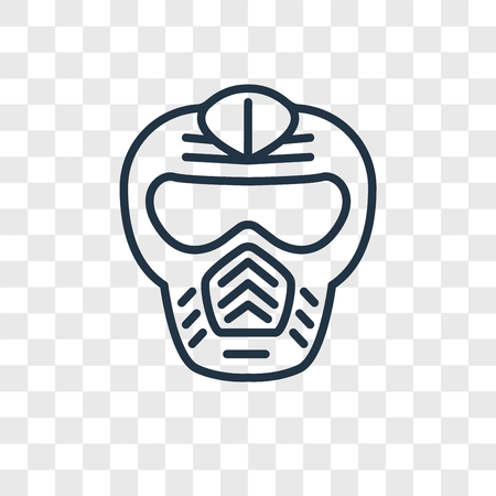 Paintball vector icon isolated on transparent background, Paintball logo concept