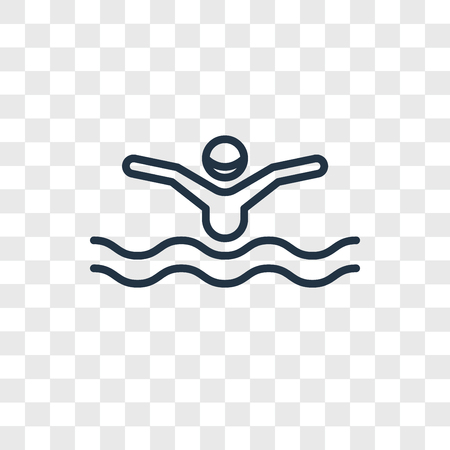 Swimming vector icon isolated on transparent background, Swimming logo concept