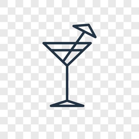 Icône de vecteur de cocktail isolé sur fond transparent, concept logo Cocktail
