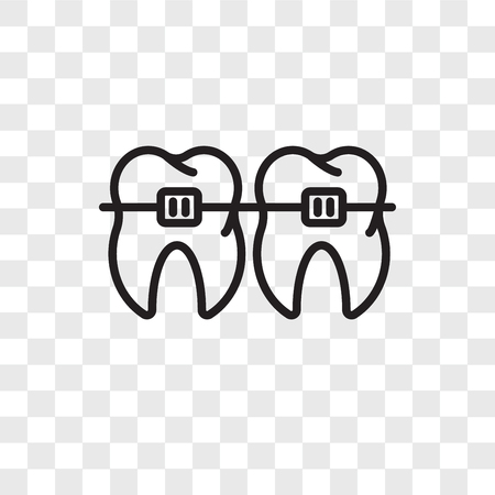 Braces vector icon isolated on transparent background, Braces logo concept Vettoriali