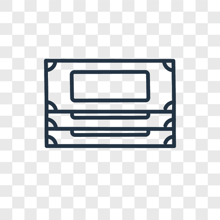 Money vector icon isolated on transparent background, Money logo concept Ilustracja