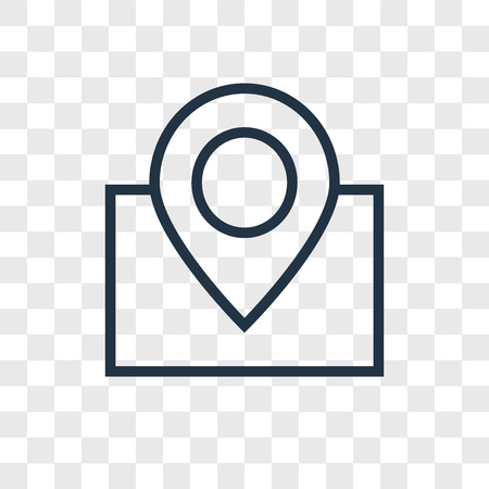 Map vector icon isolated on transparent background, Map logo concept