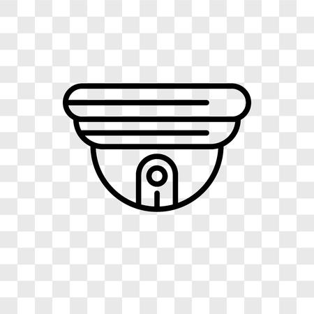 Icône de vecteur de vidéosurveillance isolé sur fond transparent, concept logo Cctv Logo