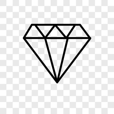 Icona di vettore di gioielli isolato su sfondo trasparente, concetto di marchio di gioielli Vettoriali