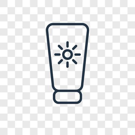 Icono de vector de bloqueador solar aislado sobre fondo transparente, concepto de logo de bloqueador solar