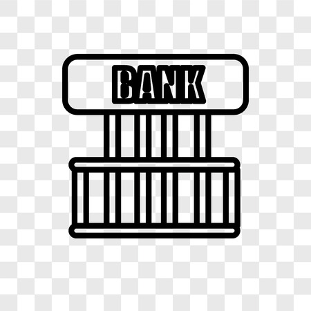 Bank vector icon isolated on transparent background, Bank logo concept